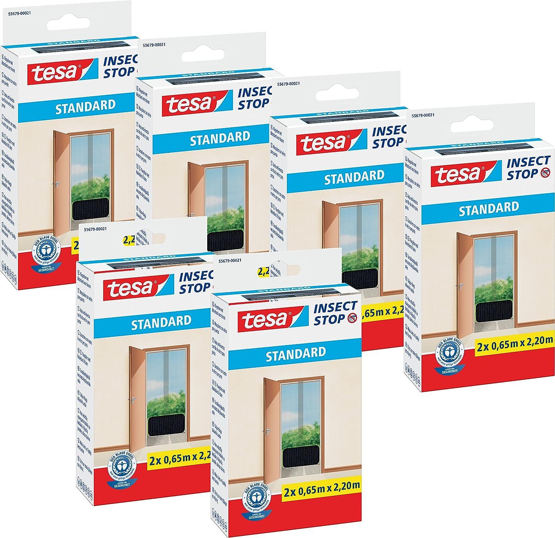 Tesa 55679-00020-03 Zanzariera per Porta, Qualità Standard, Bianco Qualità Standard