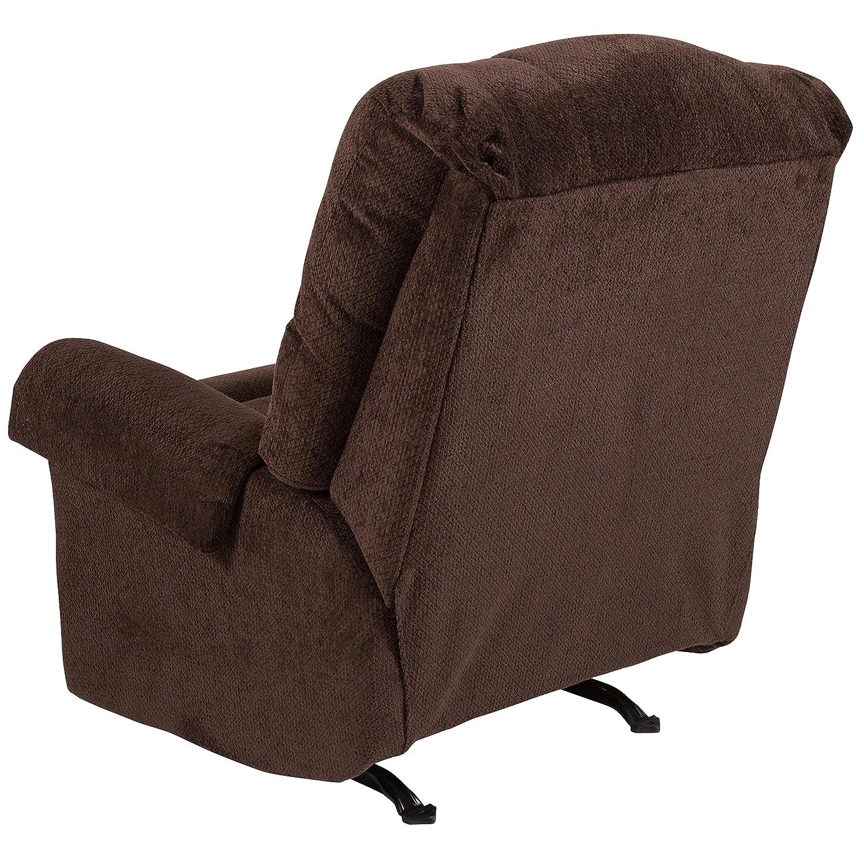 Amazon com flash furniture contemporary kelly chocolate super soft microfiber rocker recliner kitchen dining