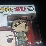 Daisy Ridley - Autographed Signed REY FUNKO POP 190 Vinyl Figure - STAR WARS - Force Awakens Last Jedi