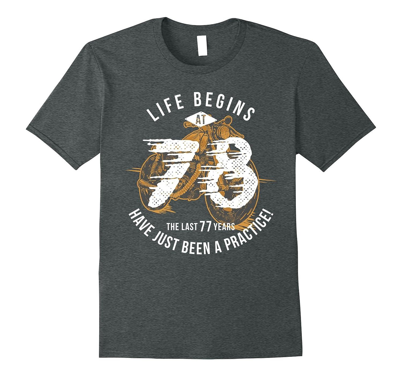 Life Begins at 78 - Vintage 78th Birthday Gift T-Shirt-PL