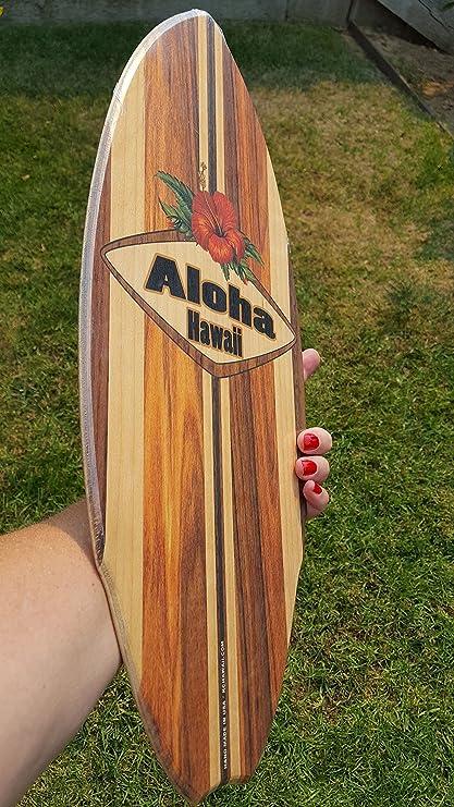 Hawaiano Aloha Classic Mini madera tabla de surf por C-ya en California y fabricado