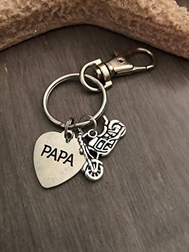 amazon com motorcycle keychain motorcycle gifts papa gift mens