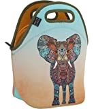Neoprene Lunch Bag by ART OF LUNCH - Artist Monika Strigel (Germany) and Art of Liv'n have Partnered to donate $.40 of every sale to the David Sheldrick Wildlife Trust - Elephant