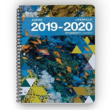 Aspire Student Planner (8.5 x 11 inches) August 2019 - July 2020 Academic Agenda - Inspiring Full Color Organizer for Goal Setting, Time Management, ...