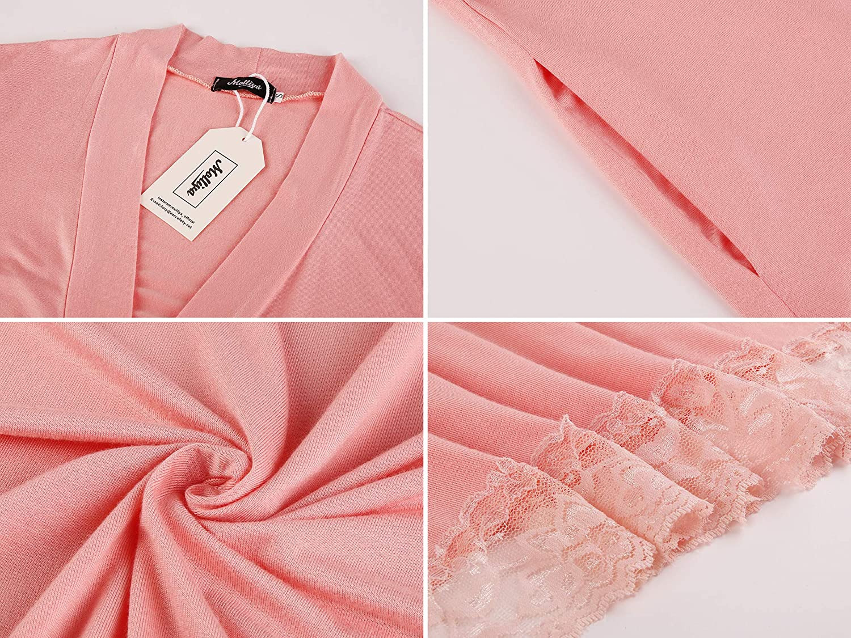 Molliya Maternity Pregnancy Labor Robe Delivery Hospital Nursing Nightgowns Sleepshirts for Breastfeeding