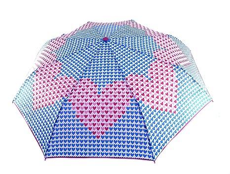Paraguas Agatha Ruiz de la Prada plegable colección Pamela, automático, antiviento, fuerte,