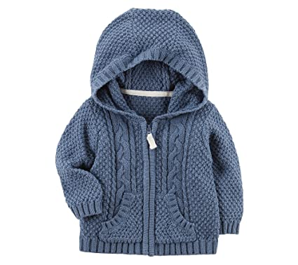e108350b6 Carter s Baby Boys  Zip Up Cable Knit Cardigan 12 Months Blue ...