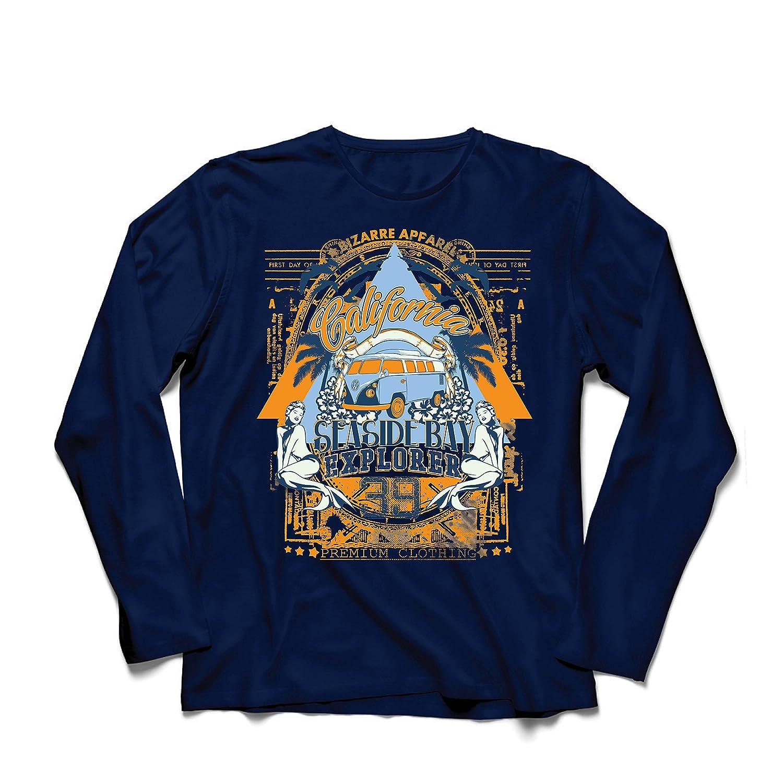 lepni.me Camiseta de Manga Larga para Hombre Primer Día de California - Explorador de la Bahía Costera - Ropa de Surf: Amazon.es: Ropa y accesorios