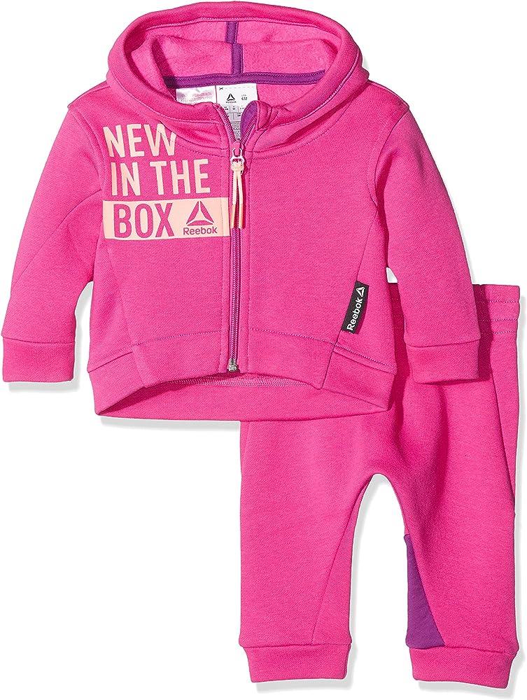 Reebok BR7083 - Chándal infantil, color Rosa (Charged Pink), 12 ...