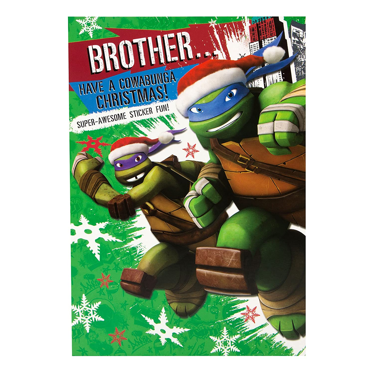 Hallmark Teenage Mutant Ninja Turtles Christmas Card To Brother ...