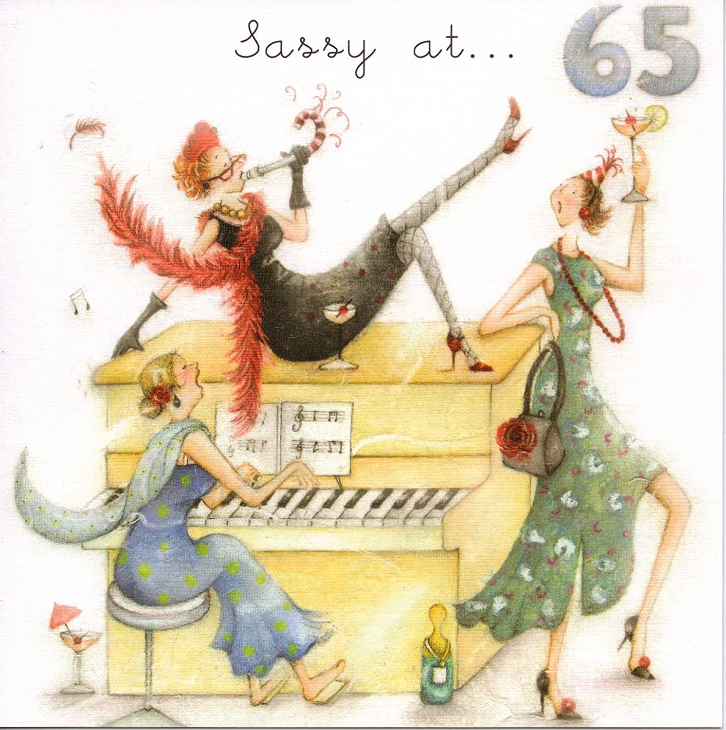Download 65th birthday card turning 65 happy 65th birthday friend - Greeting Card Bp6122 Female Age 65 Birthday Sassy Ladies Who Love Life Amazon Co Uk Office Products