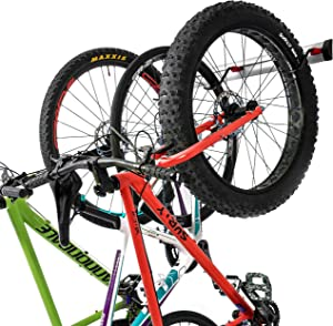 PRO BIKE TOOL Bike Wall Rack - 3 or 6 Bikes Versions - Adjustable Indoor Bicycle Storage Mount for Garage or Home - Vertical Cycling Hanger - Secure Hook - Holder for Road or Mountain Bicycles