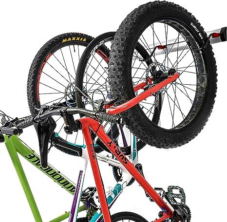 Versioni da 3 o 6 Biciclette PRO BIKE TOOL Portabiciclette a Parete per Biciclette Supporto Regolabile per riporre Le Biciclette da Interno per Garage o casa Gancio per Bicicletta Verticale