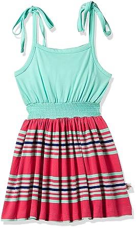 1496f1d88b66 612 League Baby Girls' Knee-Long Dress (ILW00V720116HE_Aqua_3-6M)