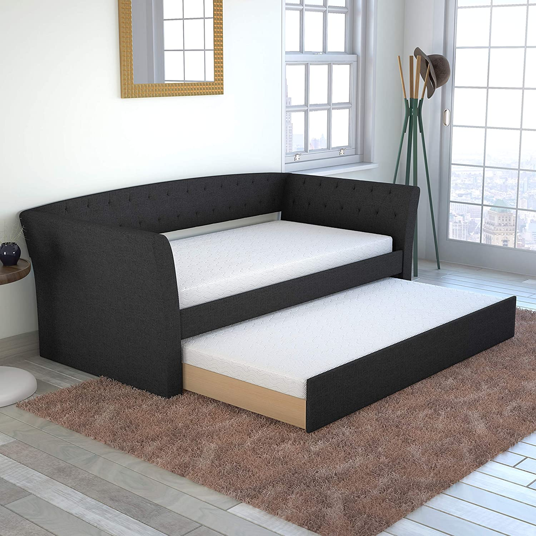 - Amazon.com: Boyd Sleep Myra Upholstered Platform Daybed And Pull