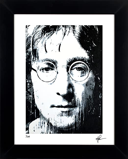 Amazon Com John Lennon Art Print Abstract Modern Artwork Signed Framed 21 X 25 Wall Art Jlbw Posters Prints