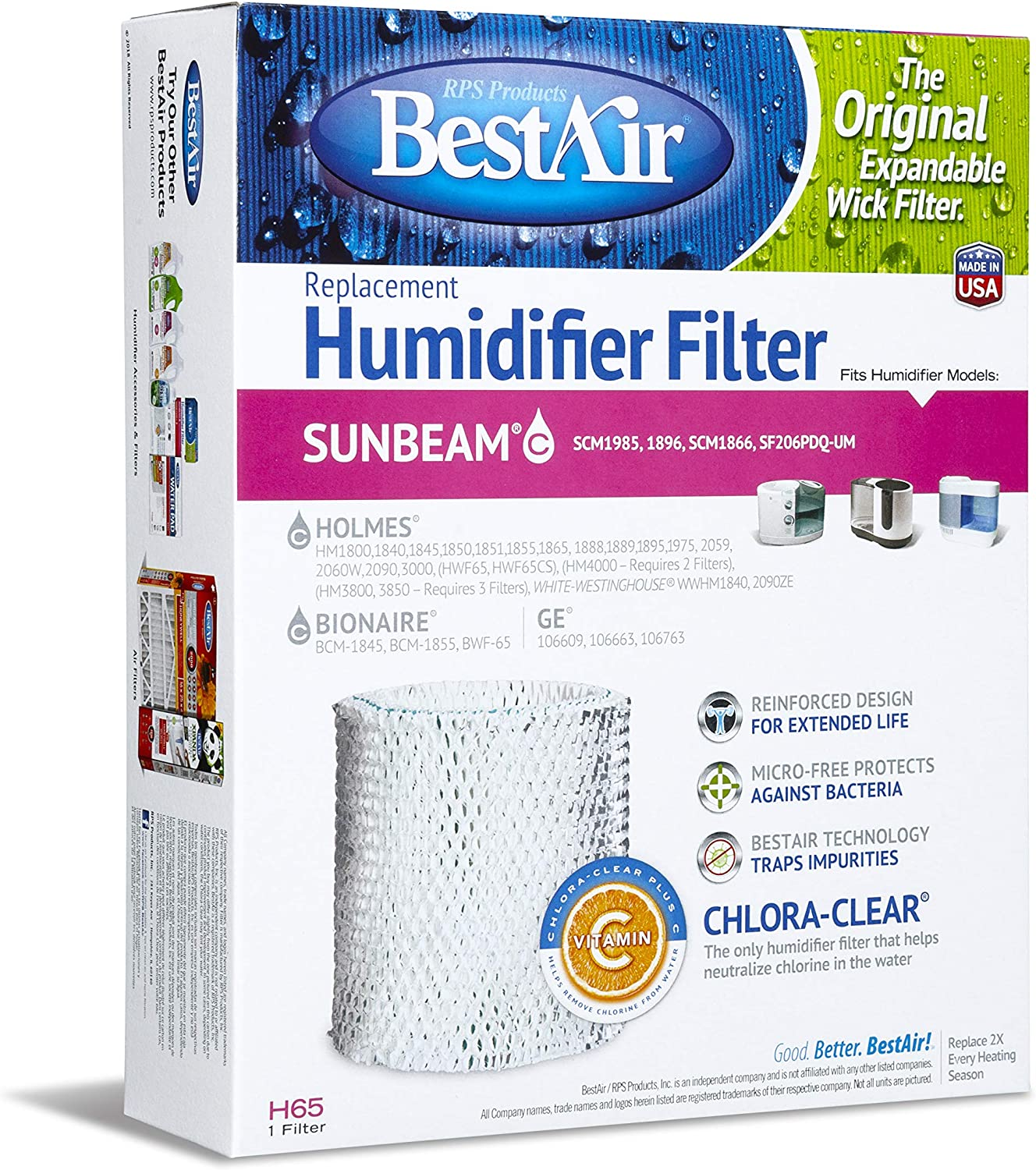 6 Pack Humidifier Filter Wick for GE General Electric 106763