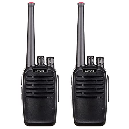 Walkie Talkies 2W Olywiz-819 Aluminum Body Tiny Walkie Talkies Handheld 16 Channels 1800 mAh Battery Two Way Radio 2 Pack