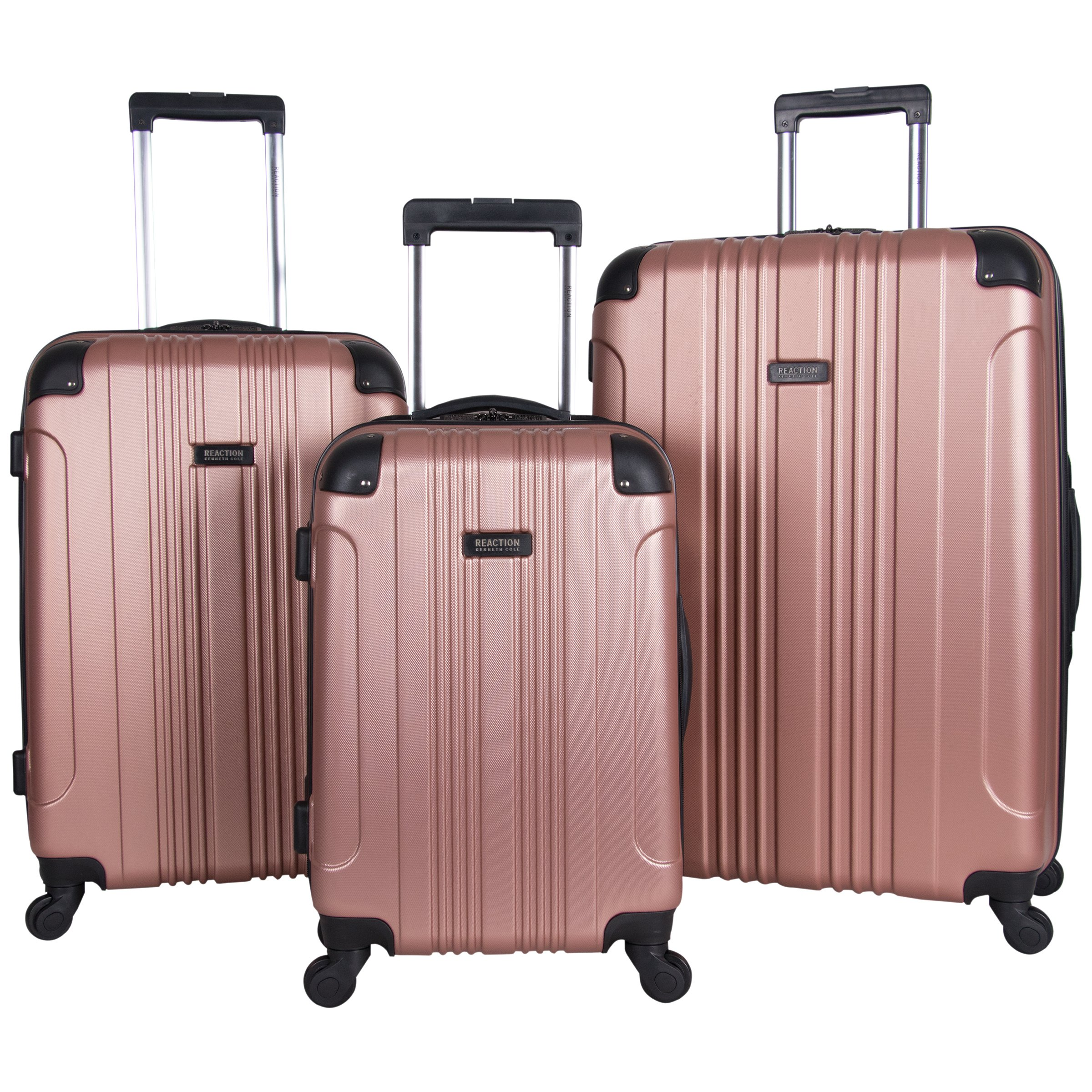Kenneth Cole Reaction Out Of Bounds 3-Piece Lightweight Hardside 4-Wheel Spinner Luggage Set: 20'' Carry-On, 24'', & 28'' by Kenneth Cole REACTION