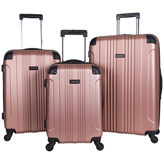 "Kenneth Cole Reaction Out Of Bounds 3-Piece Lightweight Hardside 4-Wheel Spinner Luggage Set: 20"" Carry-On, 24"", & 28"" best luggage set"