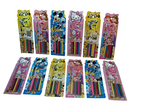 Parteet Birthday Party Return Gifts Pack Of 12 Mix Stationery Kit Set For Kids