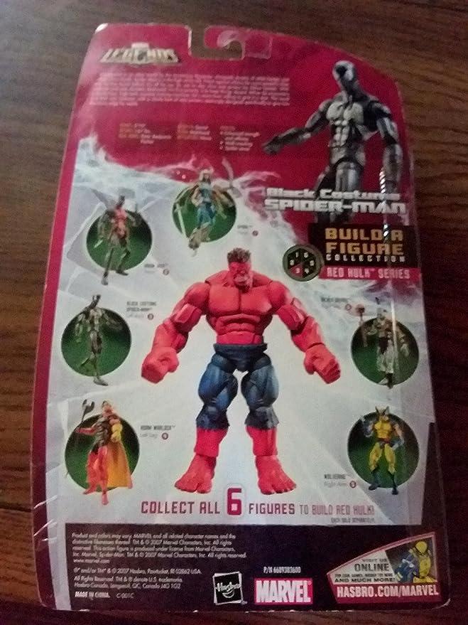 Amazon.com: Marvel Legends exclusivo rojo Hulk build-a ...