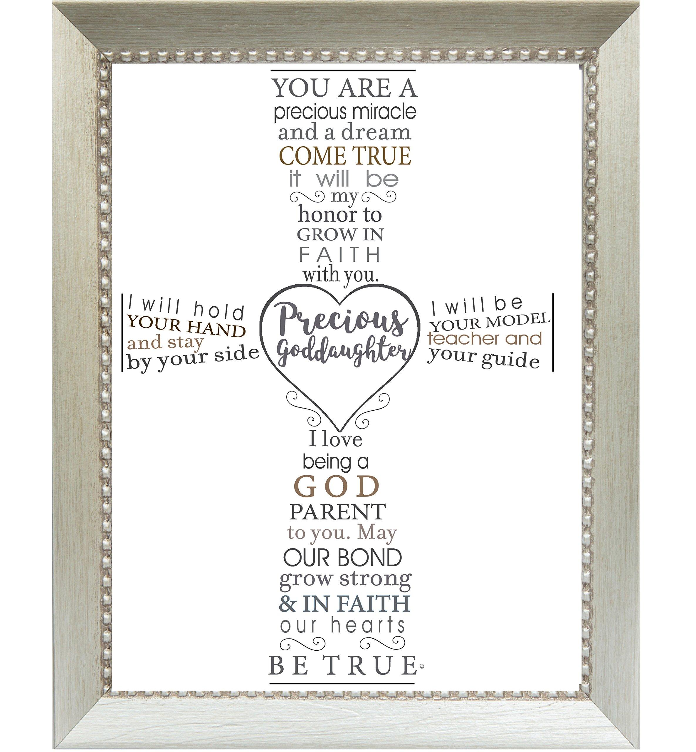 The Grandparent Gift Precious Goddaughter Frame Baptism or Christening Gift from Godparent, Silver
