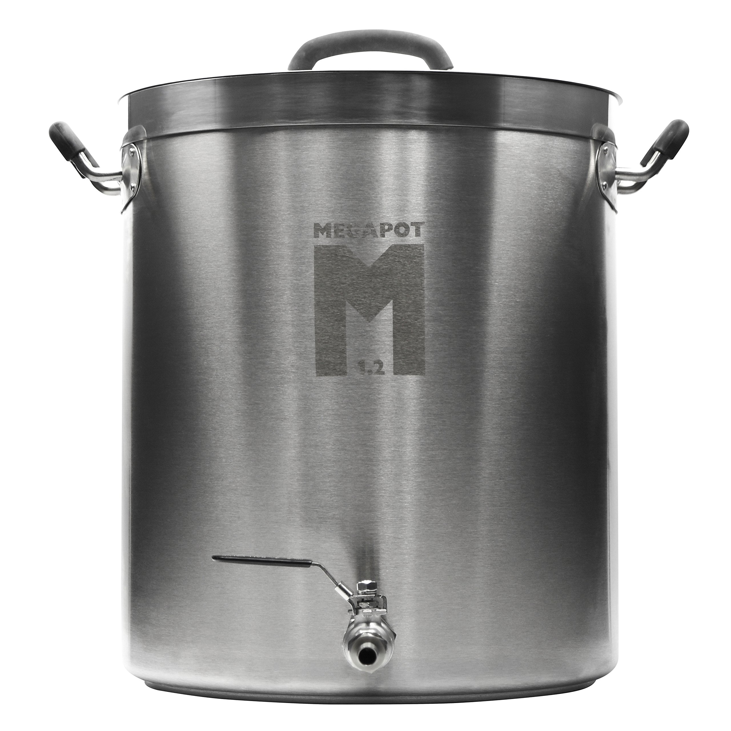Northern Brewer - Megapot 1.2 Homebrew Stainless Steel Brew Kettle Stock Pot For Beer Brewing (Kettle with a Valve, 10 Gallon/40 Quarts)