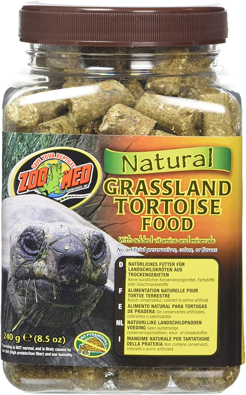 Zoo Med Natural Grassland Tortoise Food, 8.5-Ounce