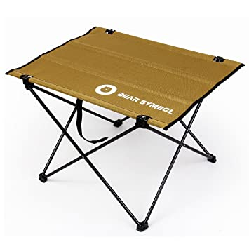 TRIWONDER Mesa de Camping Plegable, Ultraligero Portátil Roll-Up Tela de Oxford Plegable Mesa