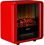 Dimplex 1.5 KW Optiflame Electric Micro Fire in High Gloss - Red