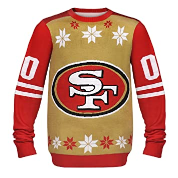 Nfl San Francisco 49ers Ugly Christmas Sweater Pull Logo Dans Large