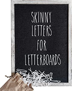 Skinny Letterboard Letters Set in Rae Dunn Inspired Font Perfect Farmhouse Decor Accessory for Changeable Felt Letter Boards (no Board Included)