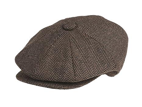 Peaky Blinders Men s 8 Piece  Newsboy  Style Flat Cap Wool (Medium ... 60abd54dfac