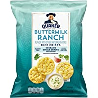 Quaker Rice Crisps, Buttermilk Ranch, 6.06 oz Bag (Packaging May Vary)