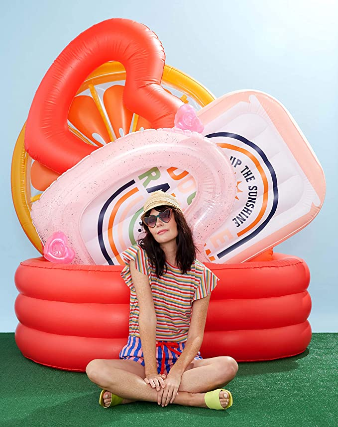 Ban Do Red Heart Shaped Inflatable Swimming Pool Large Blow Up Pool Fits 2 3 Adults Red Heart Toys Games