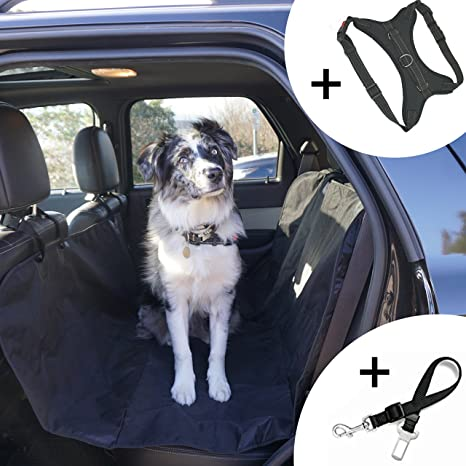 91YB5fHsIbL._SX466_ amazon com smartr pet vehicle safety bundle dog seat cover