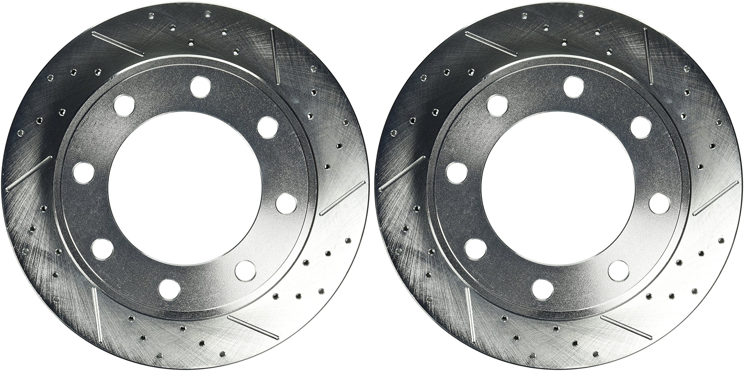 Power Stop AR8571XPR Rear Evolution Drilled & Slotted Rotor Pair