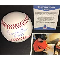 $49 » Brandon Marsh Los Angeles Angels BECKETT ROOKIE COA Autographed Signed Official Major League Baseball Full Name