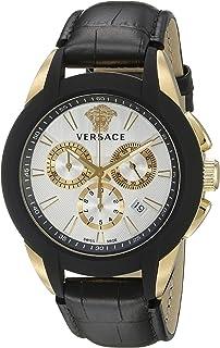 Versace Mens VQN030015 Character Analog Display Quartz Black Watch