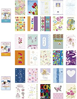 Amazon 20pk boxed graduation cards bulk with sentiment assorted all occasion cards box set 30 pack thinking of you blank thanks m4hsunfo