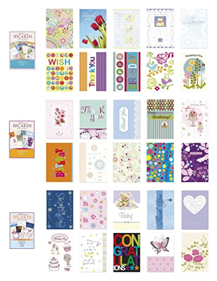 Amazon assorted all occasion cards box set 30 pack thinking assorted all occasion cards box set 30 pack thinking of you blank thanks m4hsunfo