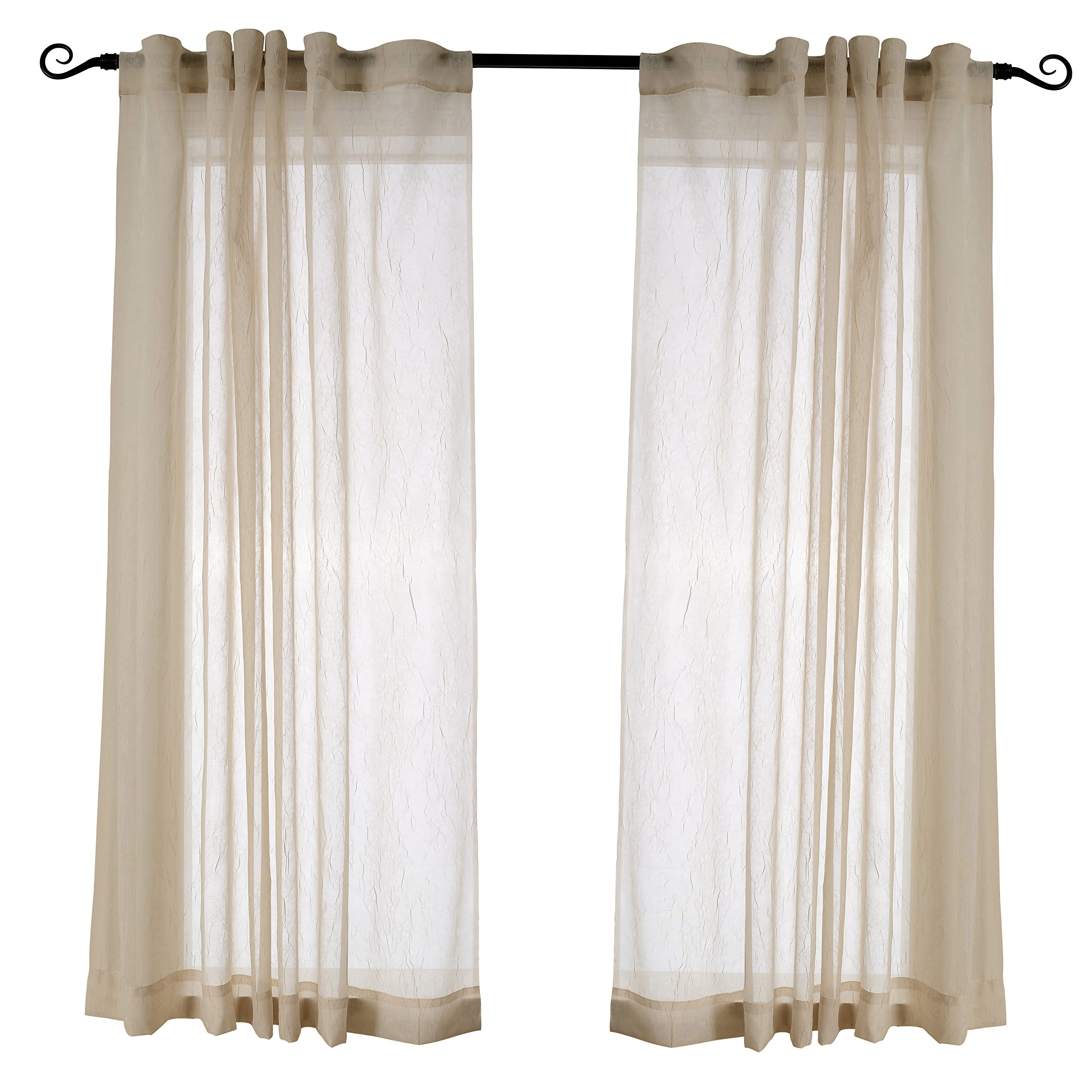 Sheer Kitchen Curtains Amazon Com: Living Room Sheer Curtains: Amazon.com