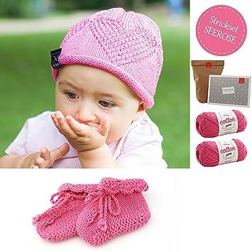 DIY Set Baby Stricken * Strickset Babymütze und Socken ...