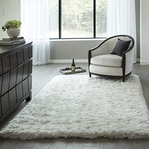 Momeni Rugs Snow Shag Collection Area Rug, 5 0 x 7 0 , White