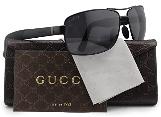 Amazon.com: Gucci gg2234/S Sol Polarizadas Gris de vidrio ...