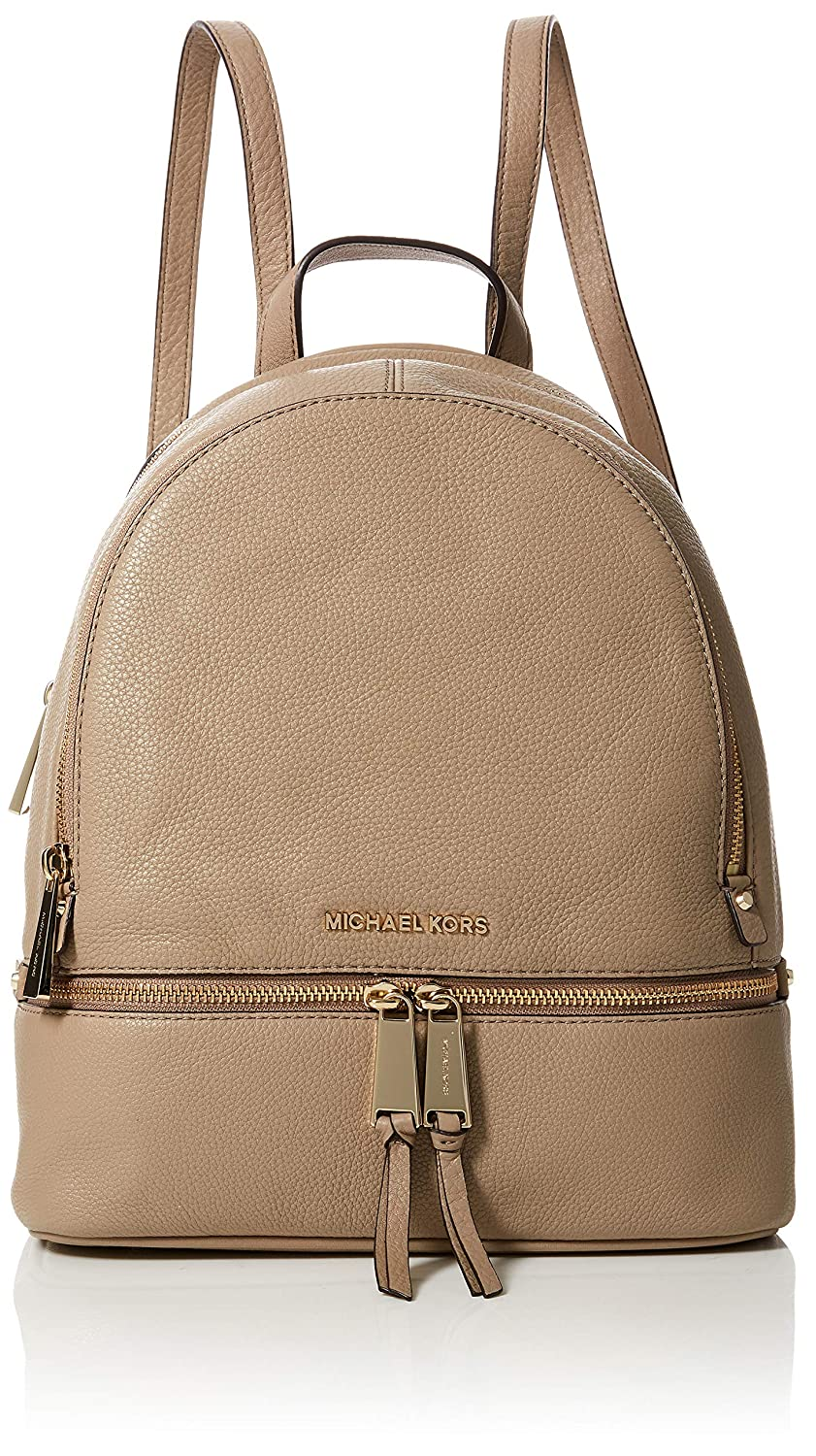 c0e35bc3905f Amazon.com  Michael Kors Womens Rhea Zip Backpack Handbag Beige (TRUFFLE)   Shoes