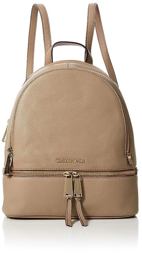 Amazon.com  Michael Kors Womens Rhea Zip Backpack Handbag Beige ... ca3f771620