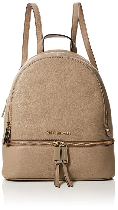 e3bf07ffd3da Michael Kors Womens Rhea Zip Backpack Handbag Beige (TRUFFLE ...