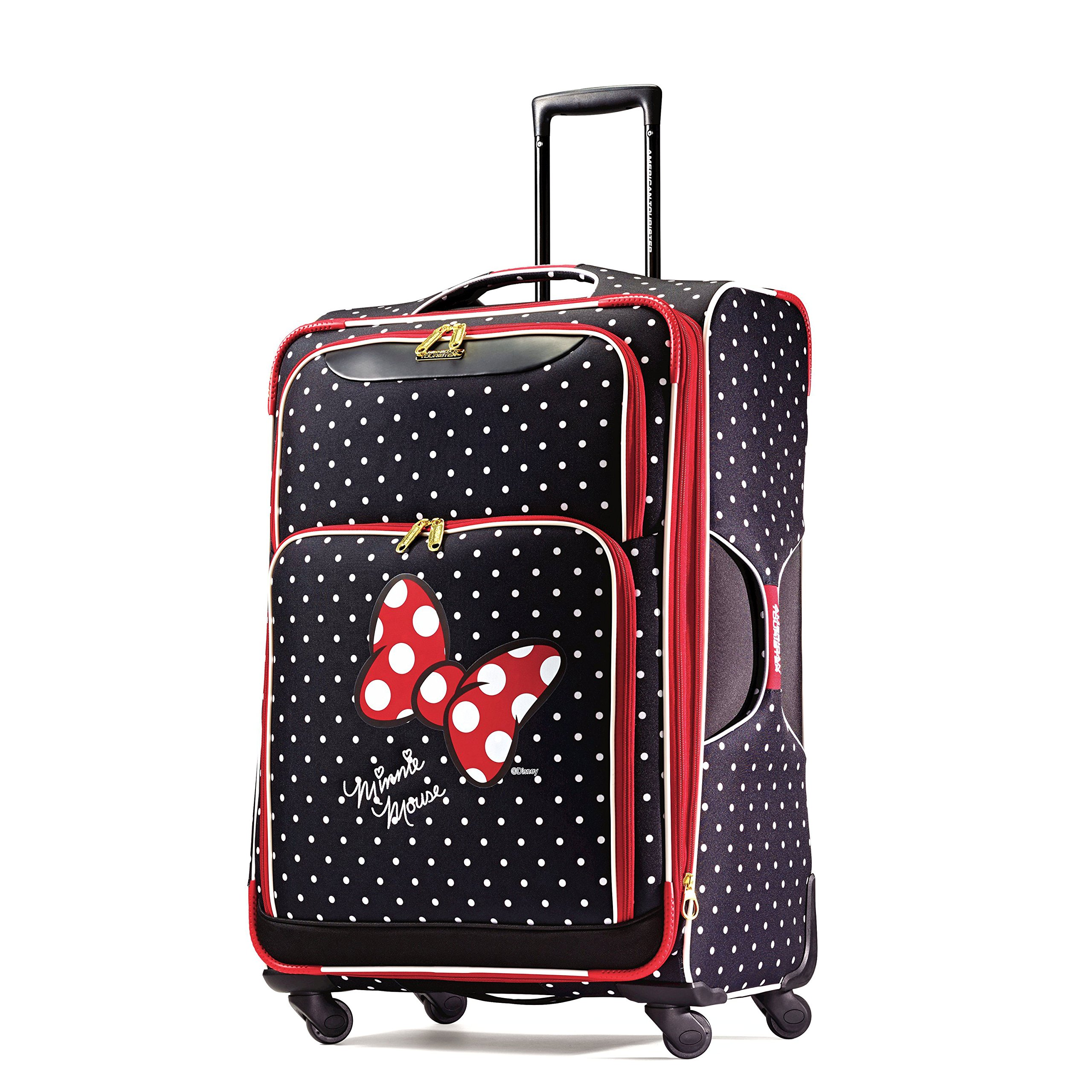 American Tourister Disney Minnie Mouse Red Bow Softside Spinner 28, Multi by American Tourister